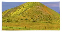 Beach Towel featuring the photograph Colorful Hill by Marc Crumpler