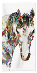 Colorful Horse Beach Towel