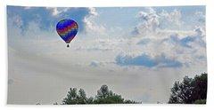 Beach Sheet featuring the photograph Colorful Hot Air Balloon by Angela Murdock