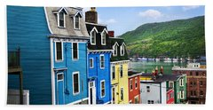 Colorful Houses In St. John's Beach Sheet