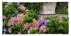 Colorful Hydrangea Beach Sheet by Living Color Photography Lorraine Lynch