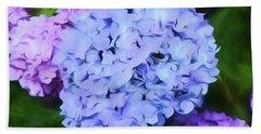 Colorful Hydreangeas Beach Sheet