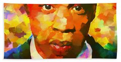 Colorful Jay Z Palette Knife Beach Towel by Dan Sproul