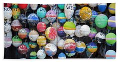 Colorful Key West Lobster Buoys Beach Sheet by John Stephens