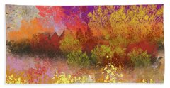 Colorful Landscape Beach Towel
