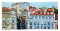 Beach Towel featuring the photograph Colorful Lisbon by Marion McCristall