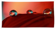 Colorful Macro Water Drops Beach Towel