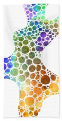 Colorful Modern Art - Colorforms 8 - Sharon Cummings Beach Towel