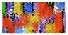 Colorful Modern Art - Pieces 11 - Sharon Cummings Beach Towel by Sharon Cummings