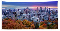 Beach Towel featuring the photograph Colorful Montreal  by Mircea Costina Photography