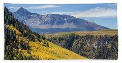 Colorful Mountains Near Telluride Beach Sheet