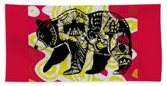 Colorful Native Black Bear Beach Towel