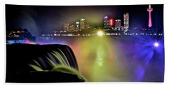 Colorful Niagara Night Beach Towel