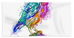Colorful Owl Beach Towel