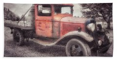 Beach Towel featuring the photograph Colorful Past by Andrea Platt