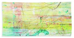 Colorful Pastel Art - Mixed Media Abstract Painting Beach Towel