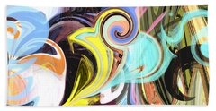 Colorful Pastel Swirls Beach Towel