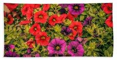Colorful Petunias 1 Beach Towel
