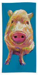 Colorful Pig Painting Beach Sheet