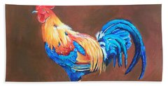 Colorful Rooster Beach Sheet