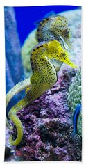 Colorful Seahorses Beach Towel