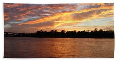Beach Sheet featuring the photograph Colorful Sky At Sunset by Cynthia Guinn