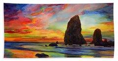Colorful Solitude Beach Sheet