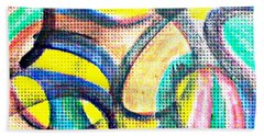 Beach Towel featuring the mixed media Colorful Soul by Lucia Sirna