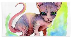 Colorful Sphynx Beach Sheet