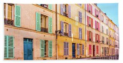 Colorful Street In Paris Beach Towel