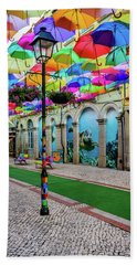 Colorful Street Beach Sheet by Marco Oliveira