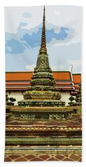 Colorful Stupas At Wat Pho Beach Towel