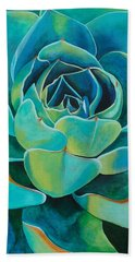 Colorful Succulent Beach Towel