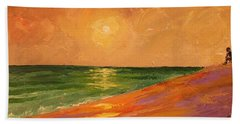 Colorful Sunset Beach Towel