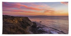 Colorful Sunset At Golden Cove Beach Towel