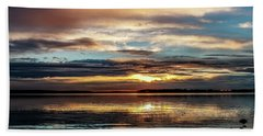 Colorful Sunset Beach Towel by Doug Long