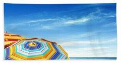 Colorful Sunshades Beach Sheet