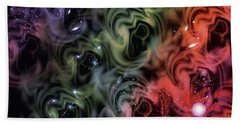 Colorful Swirls Beach Towel