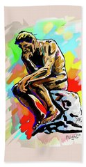 Colorful Thinker Beach Towel