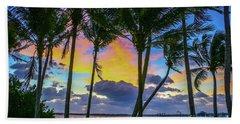 Colorful Tropical Sky Beach Towel by Tom Claud