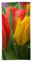 Colorful Tulip Bouquet Beach Sheet