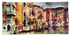Colorful Venice Canal Beach Towel