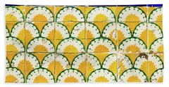 Colorful Vintage Portuguese Tiles Beach Sheet