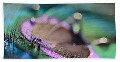 Colorful Water Droplet Beach Sheet