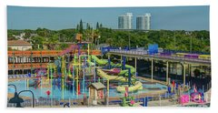 Colorful Water Park Beach Sheet