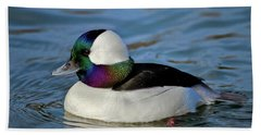 Colorful Waterfowl Beach Sheet