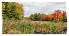 Colorful Webster Bog Beach Towel by Betty Pauwels