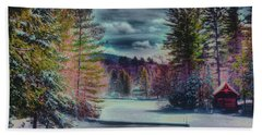Beach Sheet featuring the photograph Colorful Winter Wonderland by David Patterson