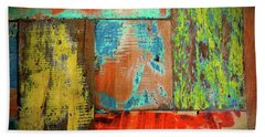 Colorful Wood Beach Towel