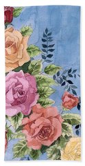Colorfull Roses Beach Towel